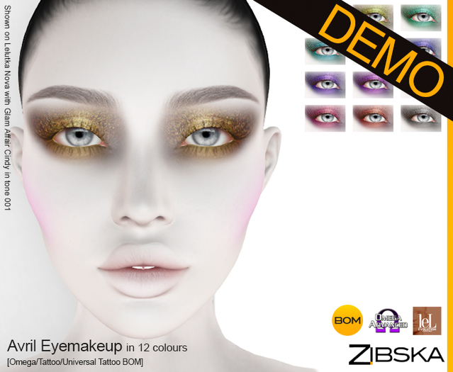 Zibska ~ Avril Eyemakeup Demo [Omega applier, tattoo & universal tattoo BOM]