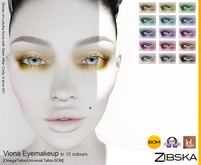 Zibska ~ Viona Eyemakeup in 15 colors with Omega appliers, tattoo and universal tattoo BOM layers
