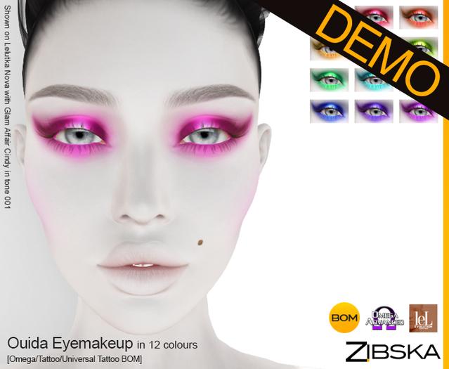 Zibska ~ Ouida Eyemakeup Demo [Omega applier, tattoo & universal tattoo BOM]