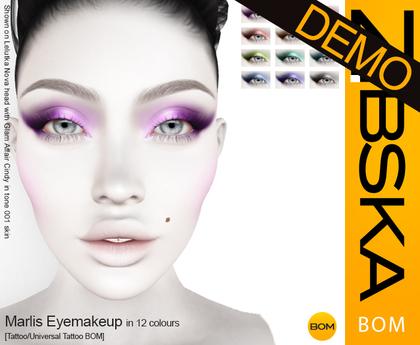 Zibska BOM Pack ~ Marlis Eyemakeup Demos [tattoo/universal tattoo BOM]
