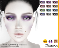 Zibska ~ Cassia Eyemakeup in 12 colors with Omega appliers, tattoo and universal tattoo BOM layers