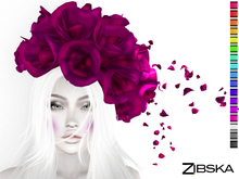 Zibska ~ Marlis Color change flower headpiece