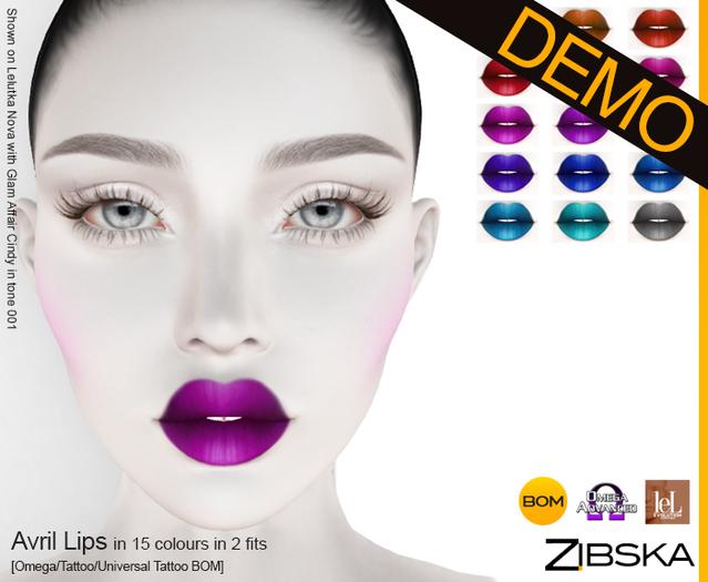 Zibska ~ Avril Lips Demo [omega applier/tattoo/universal tattoo BOM]