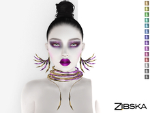 Zibska ~ Avril Color Change Collar, Necklace and Earrings