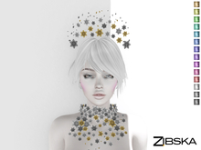 Zibska ~ Viona Color Change Headpiece and Collar