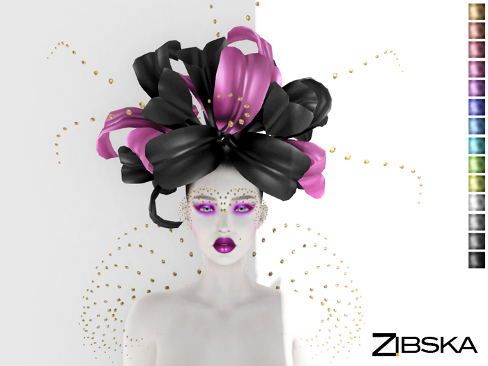 Zibska ~ Ouida Color Change Headpiece, Brows and Shoulders