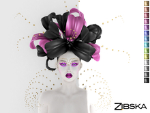 Zibska ~ Ouida Color Change Headpiece, Brows and Shoulders