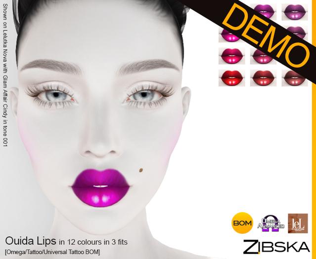 Zibska ~ Ouida Lips Demo [omega applier/tattoo/universal tattoo BOM]