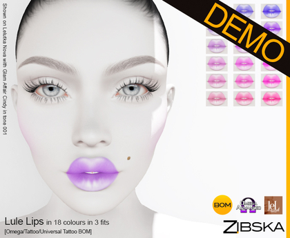 Zibska ~ Lule Lips Demo [omega applier/tattoo/universal tattoo BOM]