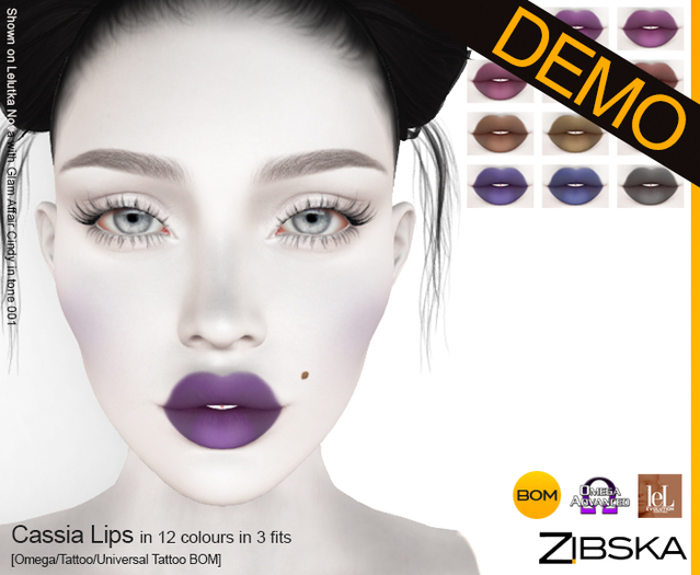 Zibska ~ Cassia Lips Demo [omega applier/tattoo/universal tattoo BOM]