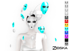 Zibska ~ Centomila Color Change Mask headpiece and orbit of masks