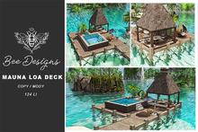 .: Bee designs:. Mauna Loa  Deck with pool - box