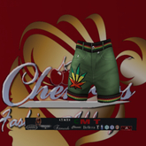 CFA Green Weed   Shorts