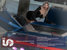 ACT5-599-Female Leaning On Car Pose BOXED