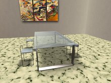 Table Crystal with chair kit