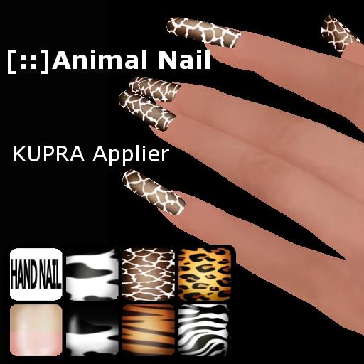[::]HANDS NAIL animal-KUPRA(add)