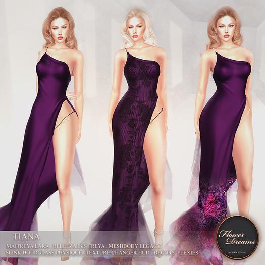 .:FlowerDreams:.Tiana Gown - purples