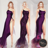.:FlowerDreams:.Tiana Gown - Demo (purples)