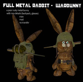 grim bros. WARBUNNY V2 AVATAR - full metal steampunk warrior rabbit!