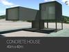 Concrete house 40mx40m