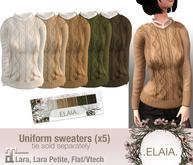 .Elaia. Uniform sweater {Maitreya} Cable