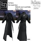Belleza Jake The Matrix Men's Leather Long Coat -Box