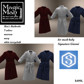 Signiture Gianni Mans bathrobe 3 colors included-Box