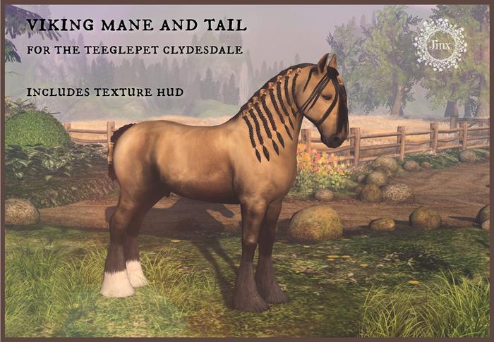 Jinx : Viking Mane Tail - TeeglePet Clydesdale