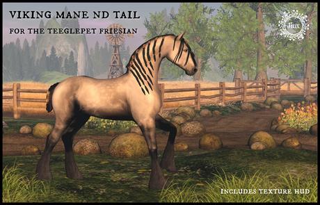 Jinx : Viking Mane Tail - TeeglePet Friesian