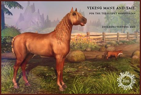 Jinx : Viking Mane Tail - TeeglePet Hanoverian