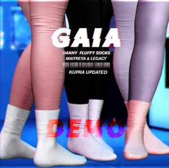 Gaia - DEMO danny fluffy socks sweater leggings