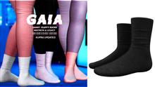 Gaia - danny fluffy socks//black