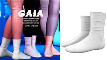 Gaia - danny fluffy socks//white