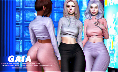 Gaia - danny fluffy sweater//fullpack
