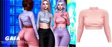 Gaia - danny fluffy sweater//blush