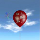 Latex Balloon - Ho Ho Ho Red