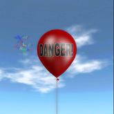 Latex Balloon - Danger!