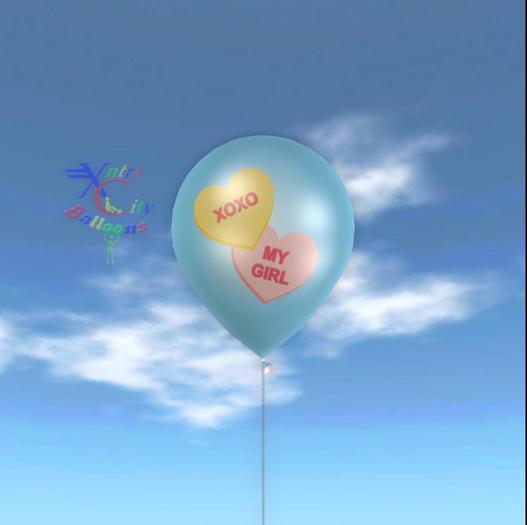 Latex Balloon - XOXO My Girl Candy Hearts
