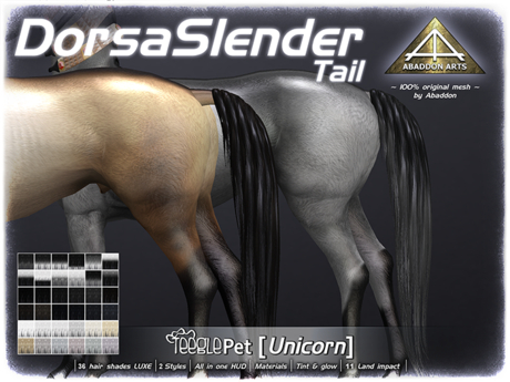 ABADDON ARTS - Dorsa Slender Tail LUXE [Teeglepet Unicorn]