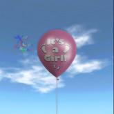 Latex Balloon - It's a Girl Footprints