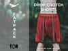 Flow drop crotch shorts fatpack