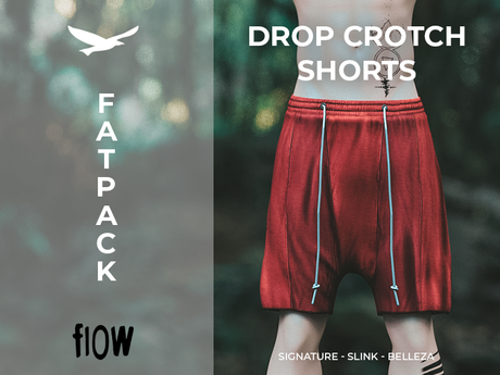 flow . Drop Crotch Shorts - Fatpack