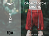 Flow drop crotch shorts demo