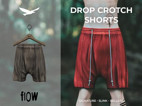 flow . Drop Crotch Shorts - 02