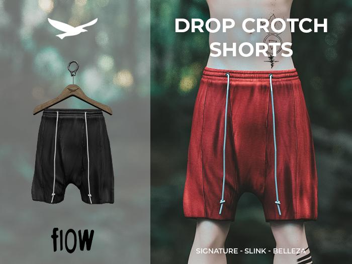 flow . Drop Crotch Shorts - 03