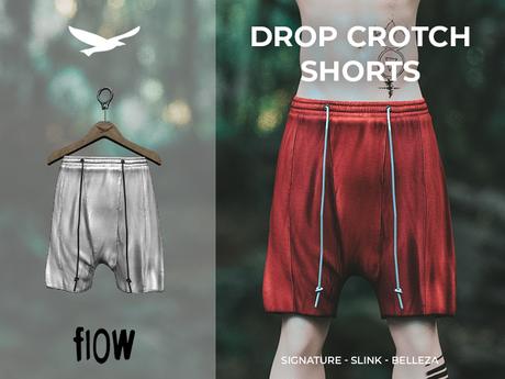 flow . Drop Crotch Shorts - 05
