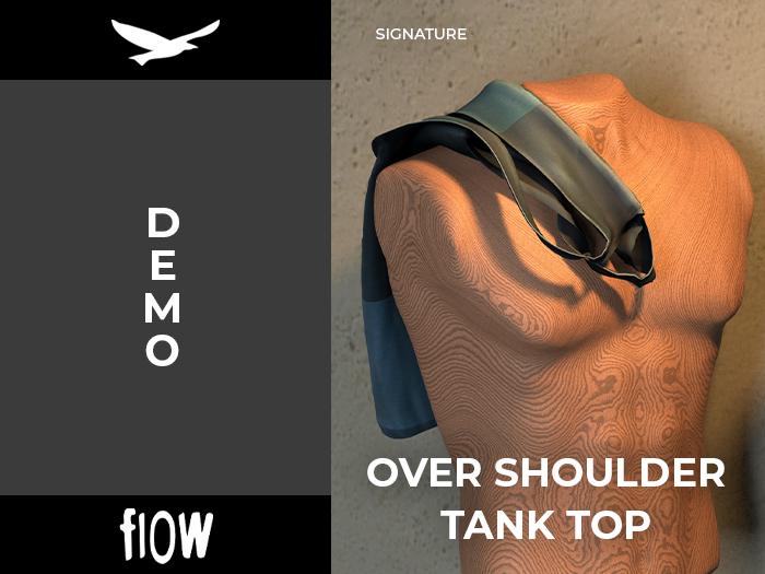 flow . Over Shoulder Tank Top - Demo