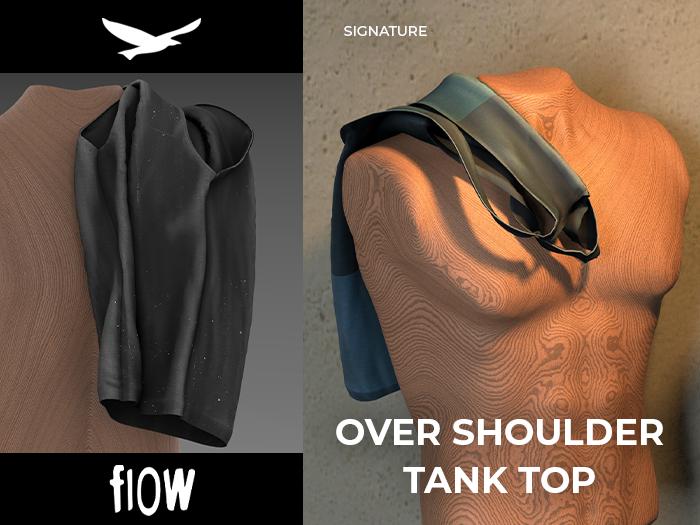 flow . Over Shoulder Tank Top 02