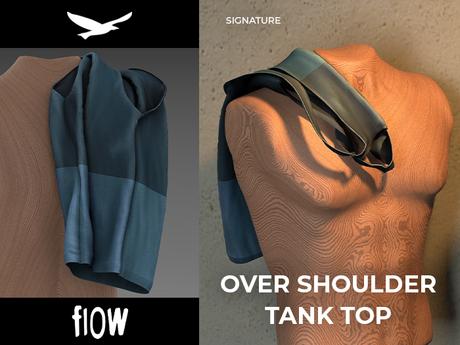 flow . Over Shoulder Tank Top 07