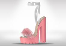 Veilance: Chelsea Fur Heels - Pink